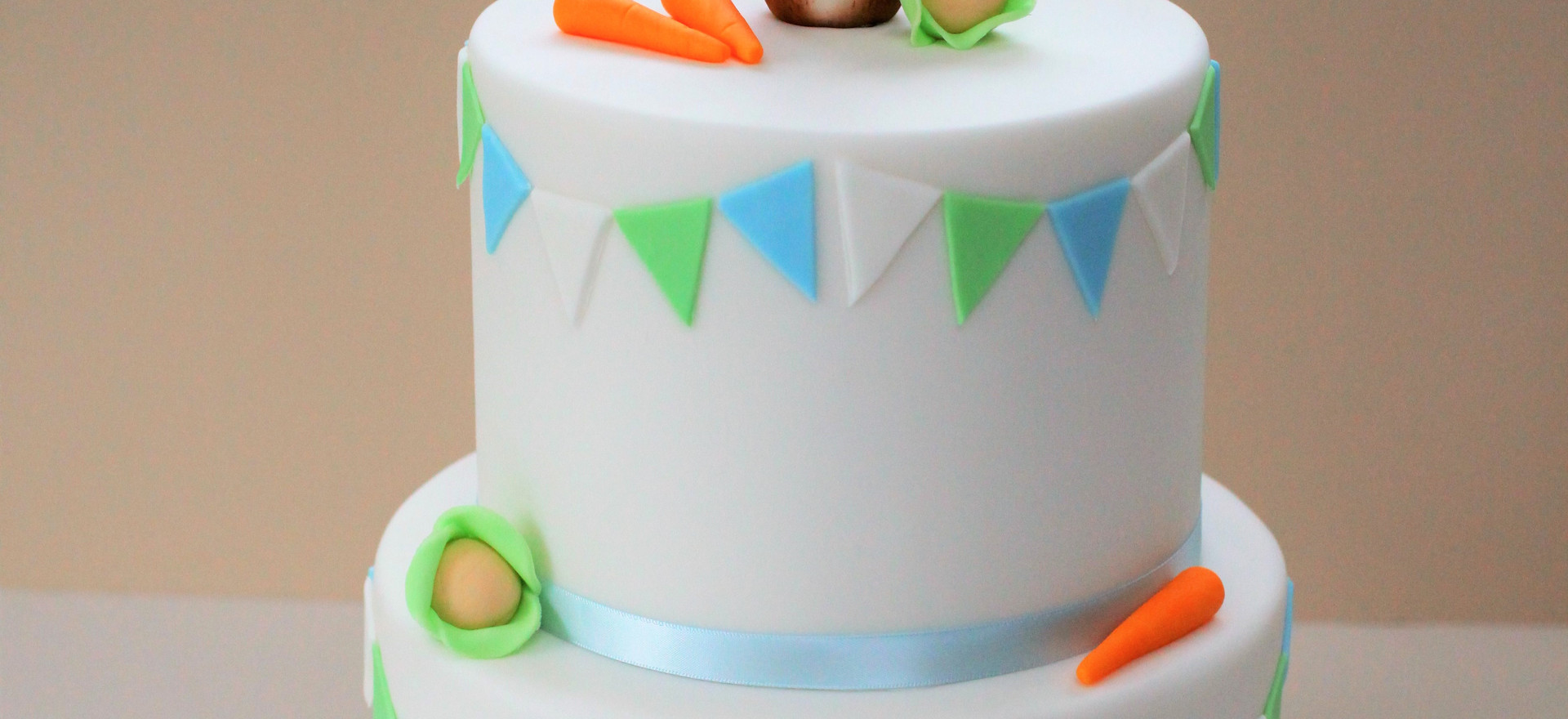 Two tier Peter Rabbit cake
