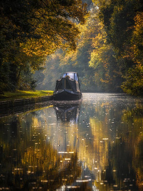 Early Autumn Canal Reflections