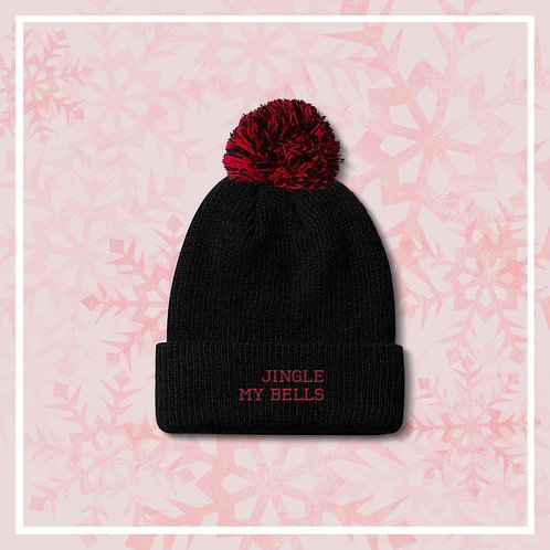 Jingle My Bells Embroidered Bobble Hat