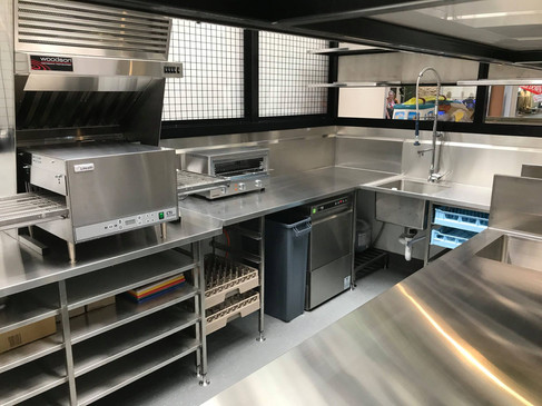 Undermount dishwasher area with large bowls & dividers, and brackets
