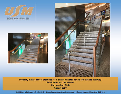 Stainless Steel Centre Handrail