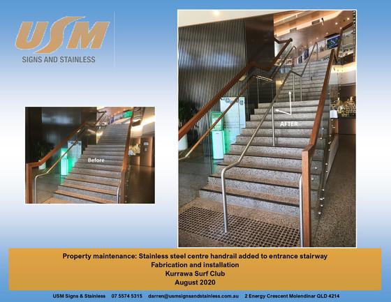 Stainless Steel Centre Handrail