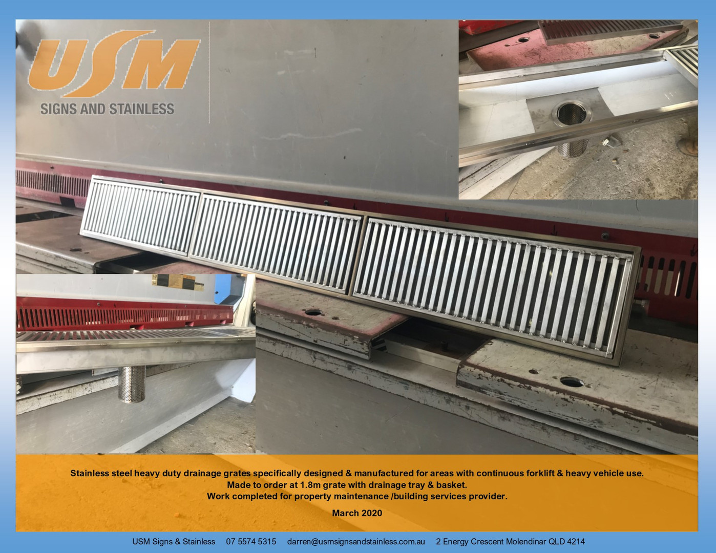 Stainless Steel Grate with Tray