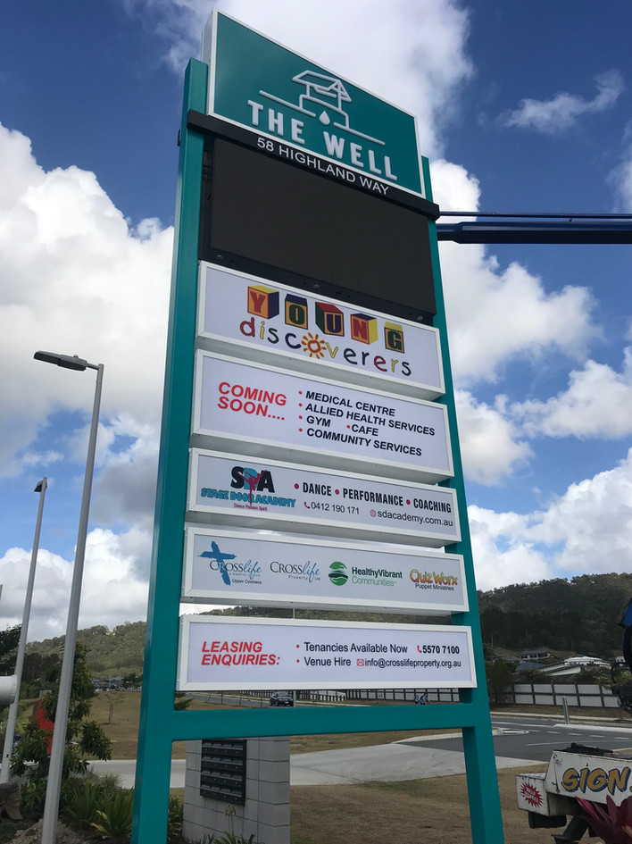 Pylon Directory Sign - The Well Commercial Centre