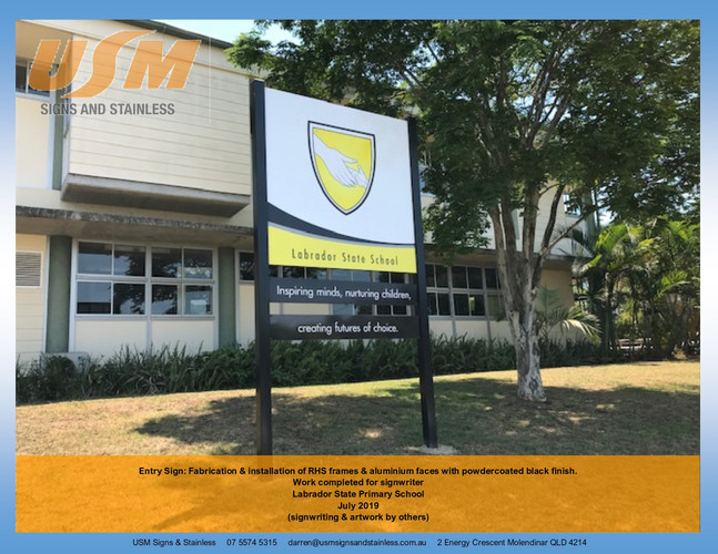 Labrador State School Entry Sign