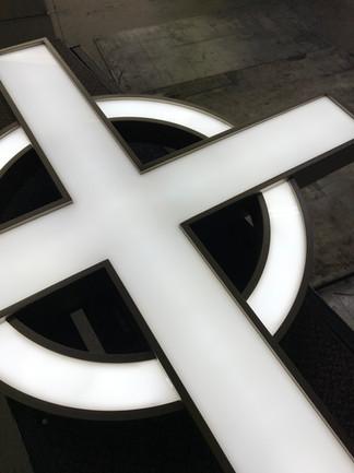 Fabricated Illuminated Custom made Cross