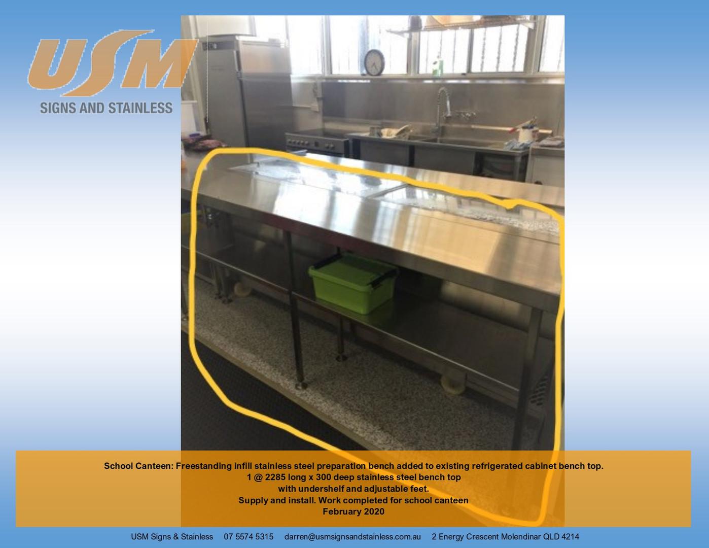 Canteen Infill Bench