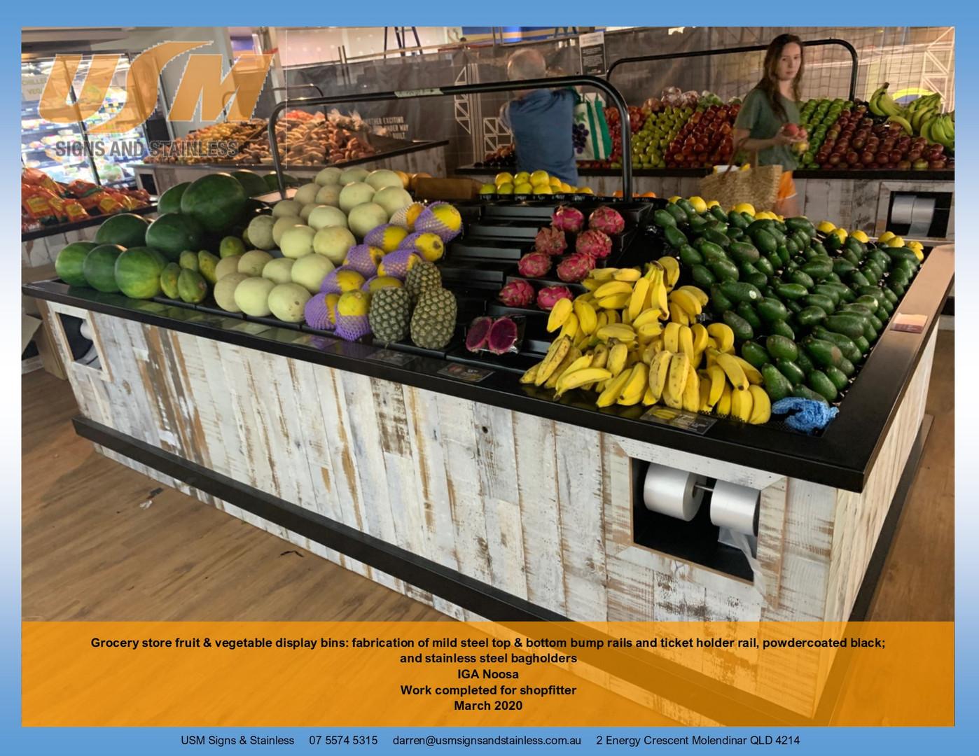 Grocery Store Display Bins