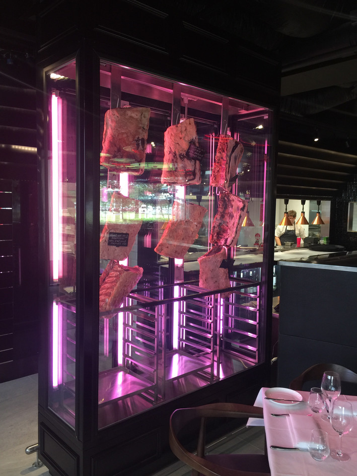 Custom meat display cabinet