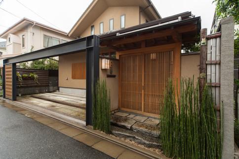 東京都目黒区の茶室・和風建築「東籬庵」外観
