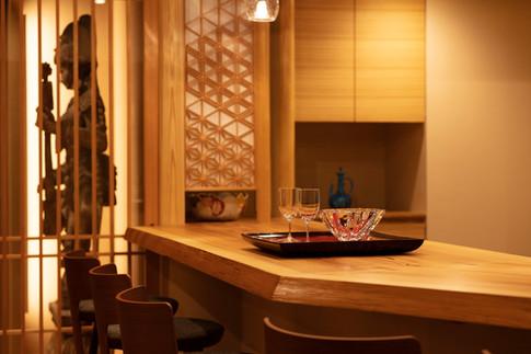 和風建築・和風住宅   カウンター   東京都   椿建築デザイン研究所