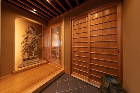和風建築・和風住宅   玄関   東京都   椿建築デザイン研究所