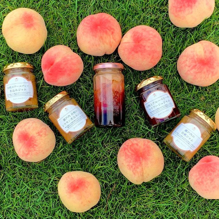 色々な桃のジャム