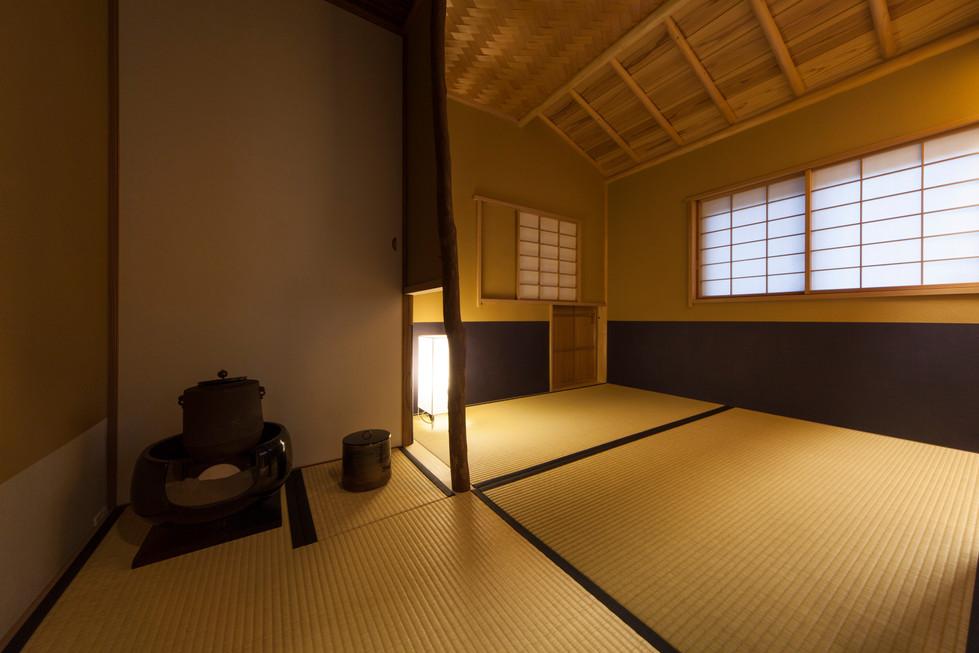 東京都目黒区の茶室・和風建築「東籬庵」炉