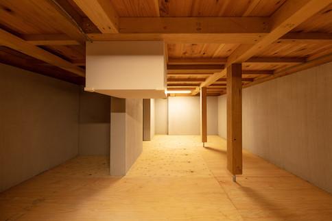 東京都港区の茶室「華久庵」の地下