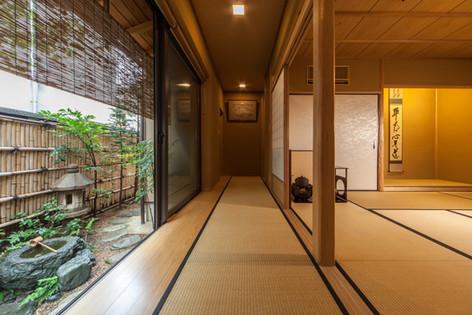 東京都目黒区の茶室・和風建築「東籬庵」縁側