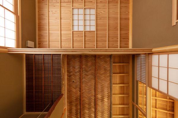 東京都港区の茶室「華久庵」の天井