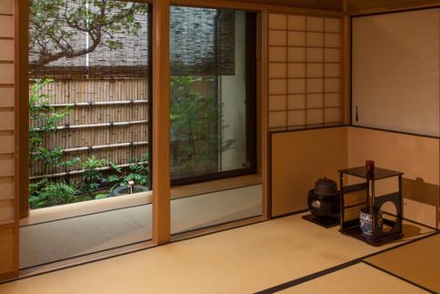東京都目黒区の茶室・和風建築「東籬庵」広間