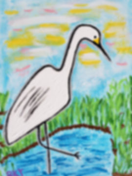 Egret Ponders the Day Ahead on the Marsh