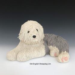 Old English Sheepdog Urn