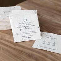 Notas de papel semilla