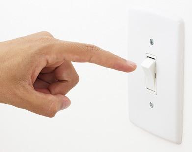No dejar las luces prendidas: Simple pero efectivo para el ambiente