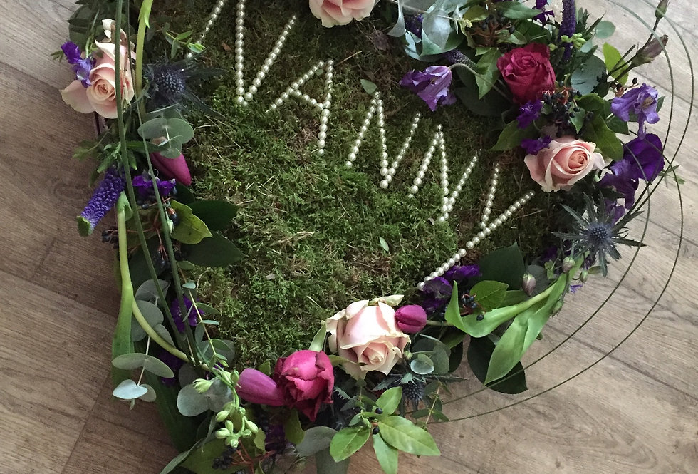 Personalized Garden Style Heart