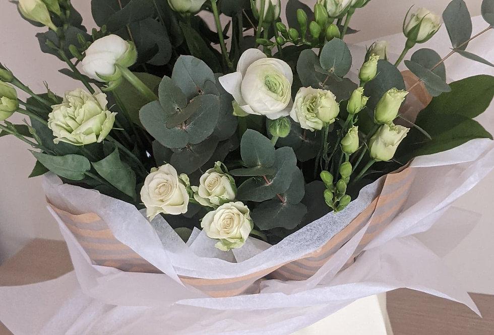 Whites & Greens Bouquet.