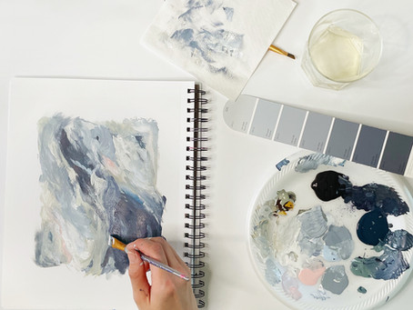 creating abstract art - a behind the scenes peek at our process