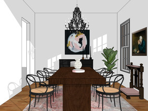 a holiday-ready dining room in a hurry