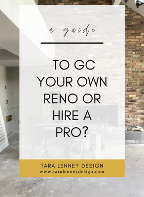 should you GC your own renovation?