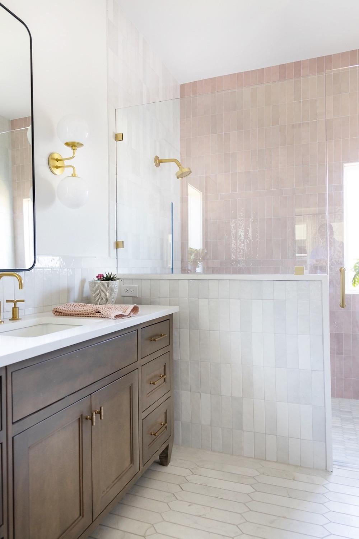 TLD pink tiled bathroom
