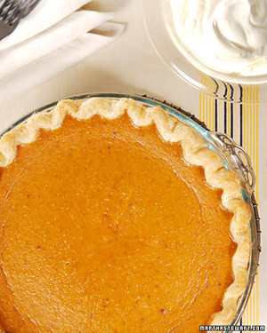 TLD Martha Stewart pumpkin pie
