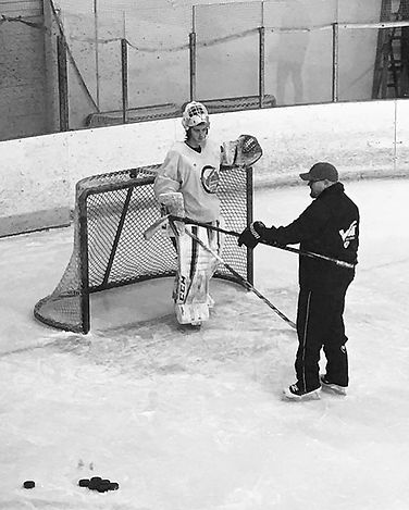Ron Training an Up and Coming Goalie