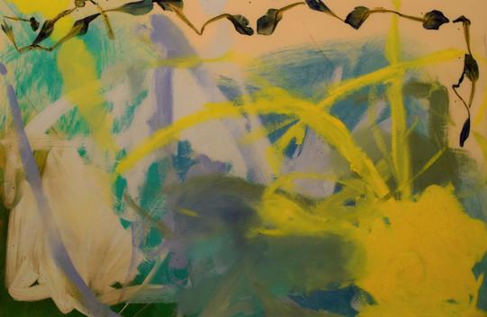 irises,20x30,oil,flowers,resin on wood,2