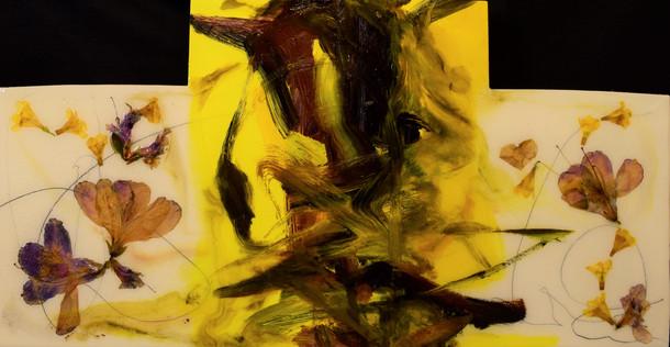 wasp,12x24, Flowers,Oil, 2021.JPG