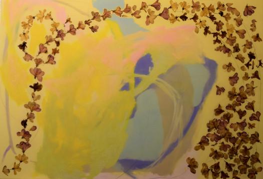 march winds,44x64,oil,flowers,pencil mar