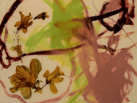 the hook 2,9x12,oil,flowers,pencil,resin on paper,2021.JPG