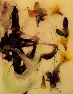 deep purple,5x6,oil,flowers,reson on woo