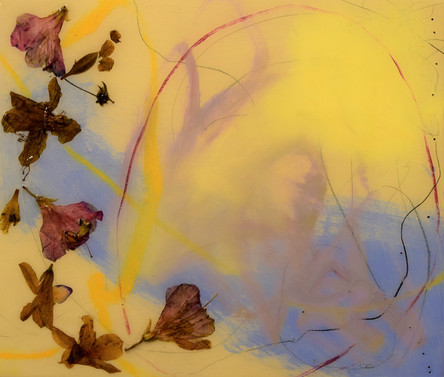 spirit of the wind, 12x14,flowers and oil, resin on wood,2021.JPG