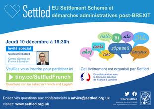 Gratuit. Nouvelle session en ligne pour l'obtention du EU Settlement Scheme.