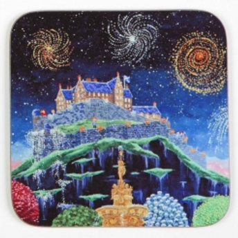Castle and Fireworks coaster