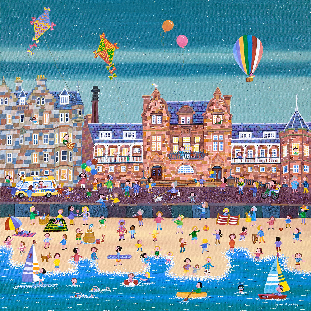 Our exhibition of Giclee prints is currently on show at Coburg House Studios Gallery. Showcasing how incredible digital prints of original paintings are now. 'Happy Days, Portobello' has been printed on a stretched canvas to stunning effect. Pop by this weekend to check it out. Coburg House 15 Coburg St. Leith EH66ET open 11-4 Saturday and Sunday 1st and 2nd June