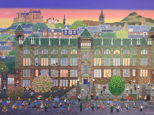 The Old Boroughmuir High School.  53 x 63 cm signed print