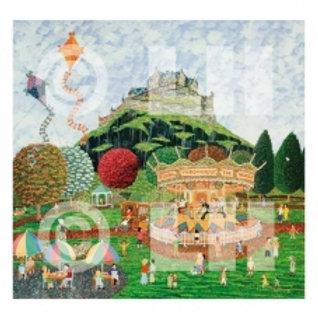 Castle, Kites and Carousel Print