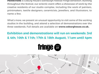 Persevere Leith exhibition. 3 weekends. Fringe venue 69.