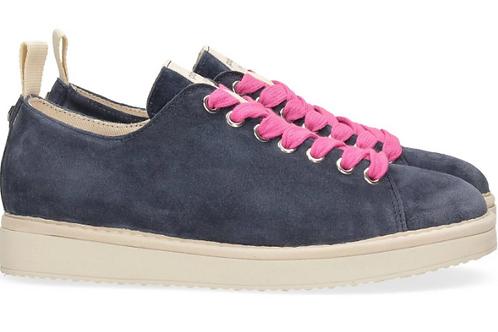 Suede lace-up shoe blue