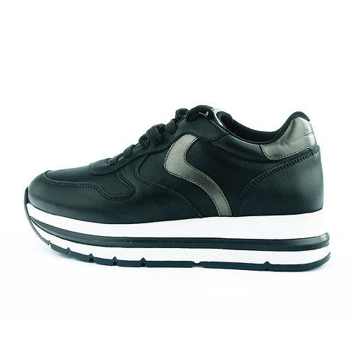 Voile Blanche Sneaker Plateau Schwarz