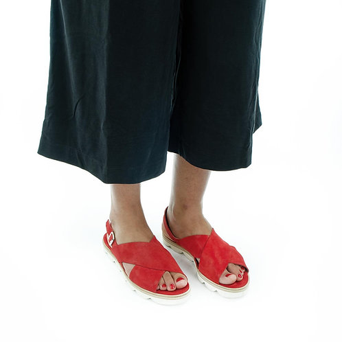 La Cabala Sandale Rot