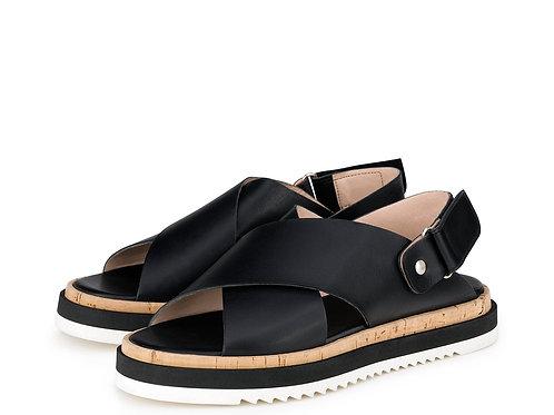 AGL Criss-Cross-Sandale schwarz